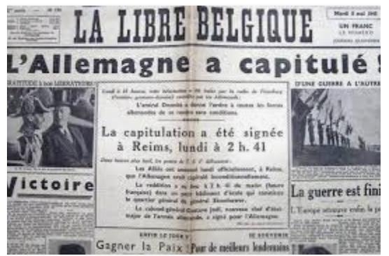 8 mai 1945 victoire de la Démocratie sur le nazisme